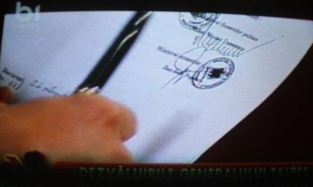 Semnătura lui Mihai Tănăsescu