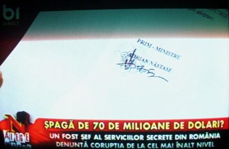 Semnătura lui Adrian Năstase