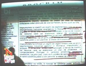 Adrian Năstase prezintă un document aprobat în perioada guvernării Convenţiei Democate prin care s-a luat decizia politică să se privatizeze parţial mai multe societăţi din domeniul energetic programul PSAL)
