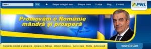 Captură de pe interfaţa siteului preşedintelui PNL