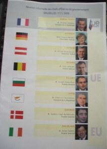 Informare cu componenţa delegaţiilor prezente la CE pe 07 noiembrie 2008