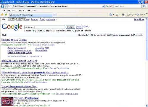 """Cauţi """"prostănac"""" şi Google ţi-l scoate pe Mircea Geoană"""