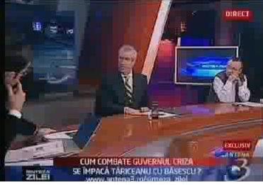 În emisiunea de aseara Tăriceanu nu l-a mai fost acceptat pe ciumpalacu' Ciutacu