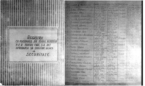Bădin scoate iar un registru în care cadetul Băsescu, aflat pe băncile Şcolii de marină, alături de toţi colegii, fusese controlat de comuniştii de la cadre dacă are origine sănătoaă şi se dăduse acceptul pentru a fi cooptat în structurile informative.