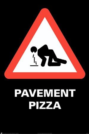 Nu asfalt-pizza