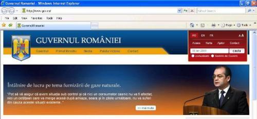 Aşa arată, de azi, pagina web a Guvernului